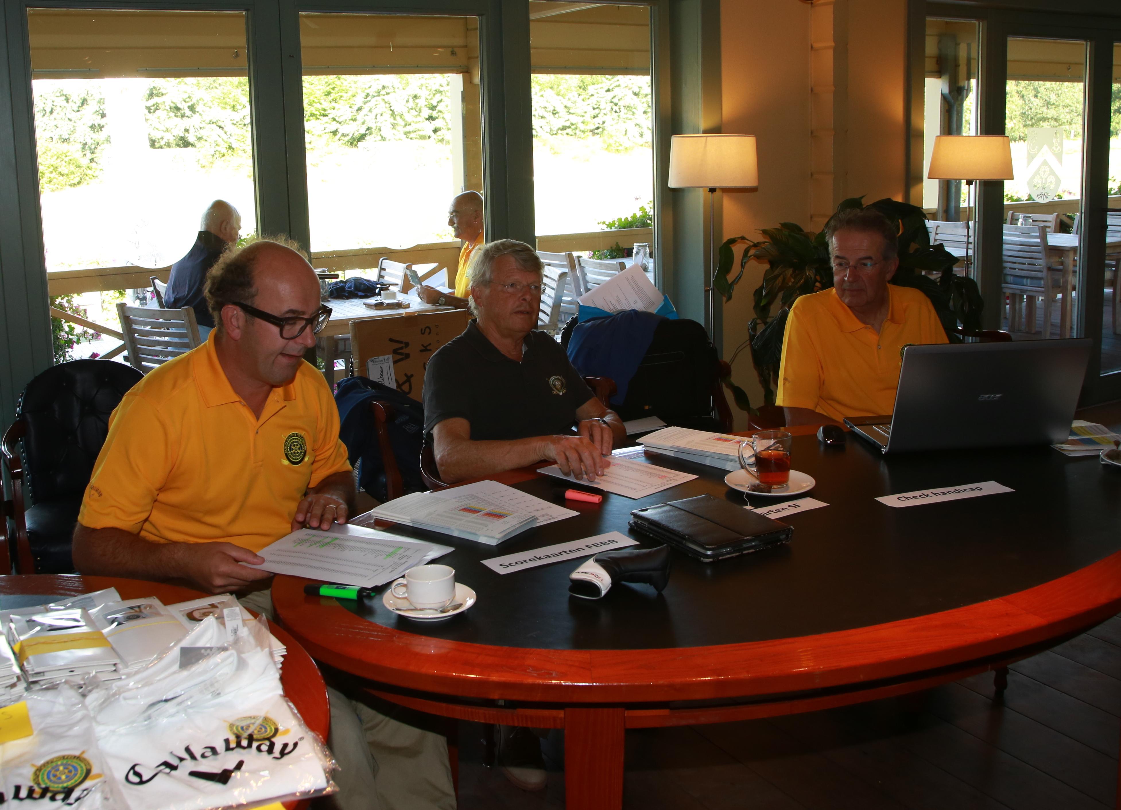We zijn er klaar voor. vlnr Peter van den Broek, Jan Piet Haasnoot en Bas van Hille.